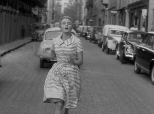 Jean Seberg Breathless striped dress