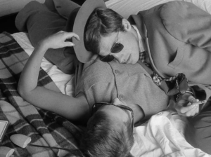 Jean Seberg and Jean-Paul Belmondo